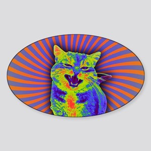 Psychedelic Kitty Sticker