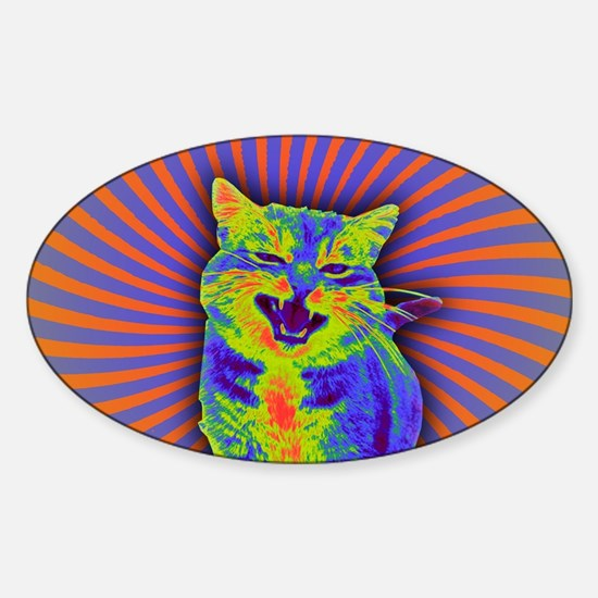 Psychedelic Kitty Decal