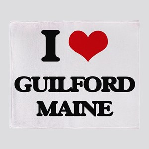 I love Guilford Maine Throw Blanket