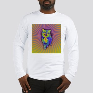 Psychedelic Kitty Long Sleeve T-Shirt