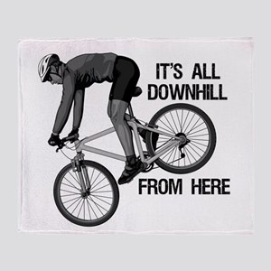Downhill Mountain Biker Throw Blanket