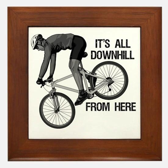 Downhill Mountain Biker Framed Tile