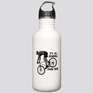 Downhill Mountain Bike Stainless Water Bottle 1.0L