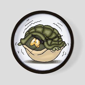 Hiding Turtle Wall Clock