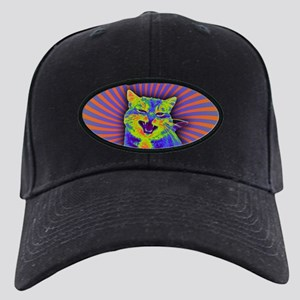 Psychedelic Kitty Black Cap