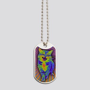 Psychedelic Kitty Dog Tags