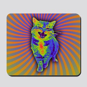 Psychedelic Kitty Mousepad
