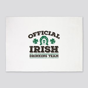 Official Irish Drinking Team 5'x7'Area Rug