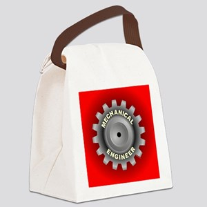 Mechanical Engineer Gear Red Canvas Lunch Bag