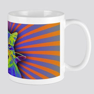 Psychedelic Kitty Mugs
