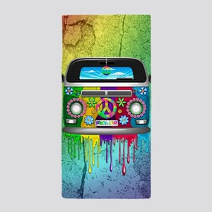 Hippie Van Dripping Rainbow Paint Beach Towel