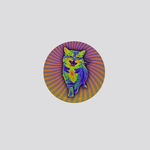 Psychedelic Kitty Mini Button