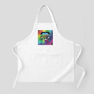 Hippie Van Dripping Rainbow Paint Apron