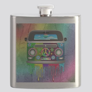 Hippie Van Dripping Rainbow Paint Flask