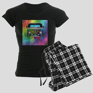 Hippie Van Dripping Rainbow Paint Pajamas