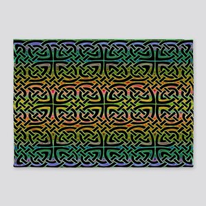 Colorful Celtic 5'x7'Area Rug