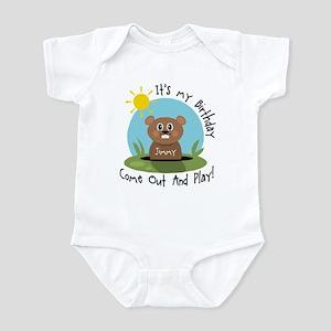 Jimmy birthday (groundhog) Infant Bodysuit