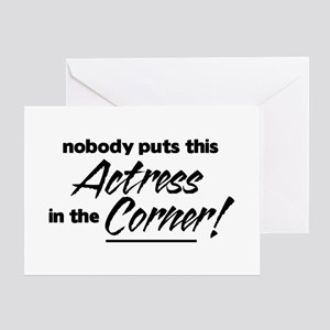 Actress Nobody Corner Greeting Cards