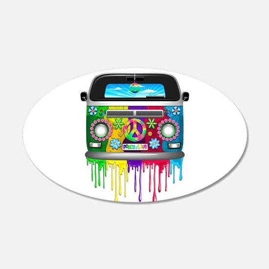 Hippie Van Dripping Rainbow Paint Wall Decal