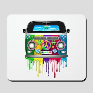 Hippie Van Dripping Rainbow Paint Mousepad