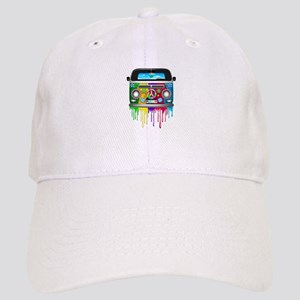 Hippie Van Dripping Rainbow Paint Baseball Cap