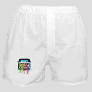 Hippie Van Dripping Rainbow Paint Boxer Shorts