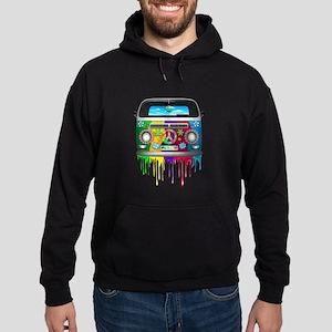 Hippie Van Dripping Rainbow Paint Hoodie