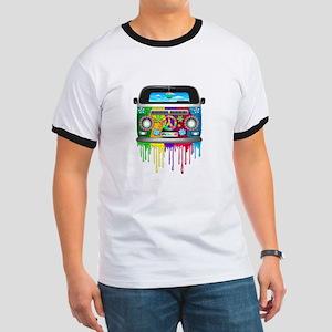 Hippie Van Dripping Rainbow Paint T-Shirt