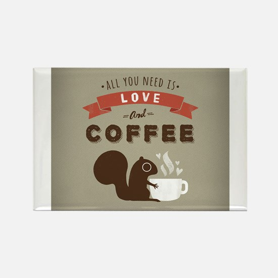 Cute Coffee lover Rectangle Magnet