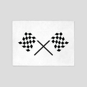 Racing Flags 5'x7'Area Rug