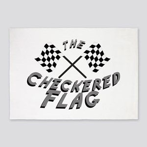 The Checkered Flag 5'x7'Area Rug
