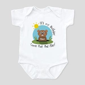 Blaine birthday (groundhog) Infant Bodysuit