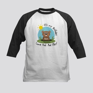Blaine birthday (groundhog) Kids Baseball Jersey