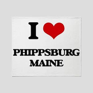 I love Phippsburg Maine Throw Blanket
