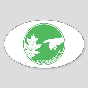 Connect With Nature Oval Sticker