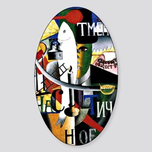 Malevich - Englishman in Moscow Sticker (Oval)