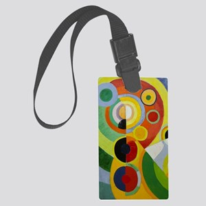Colorful Abstract Painting Large Luggage Tag