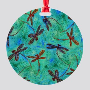 Dragonfly Dance Round Ornament