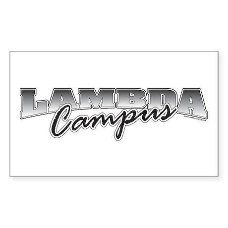 Lambda Logo Rectangle Sticker