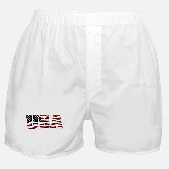 USA Flag Logo Boxer Shorts