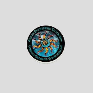CRPS/RSD Awareness FIre & Ice legs & W Mini Button