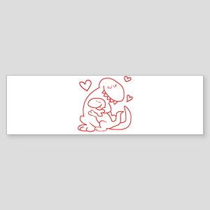 Hugging Dinos Bumper Sticker