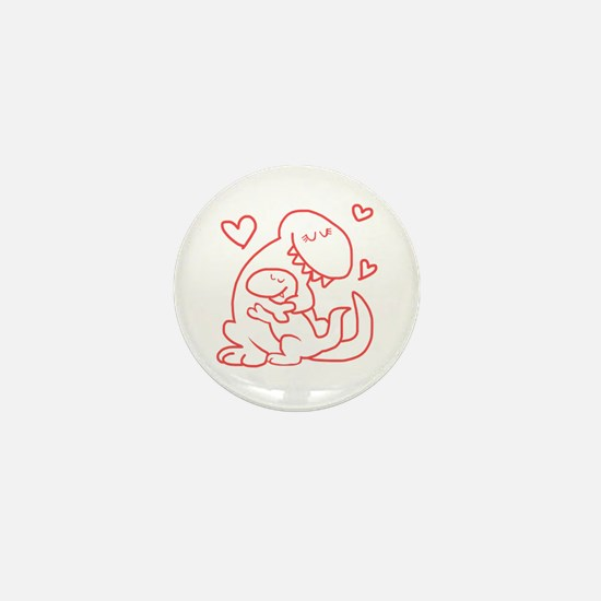 Hugging Dinos Mini Button