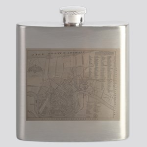 Vintage Map of New Orleans Louisiana (1902) Flask