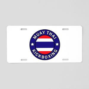Muay Thai Aluminum License Plate