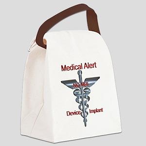 Medical Alert - Device Implant N Canvas Lunch Bag
