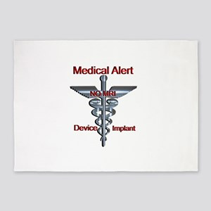 Medical Alert - Device Implant NO 5'x7'Area Rug
