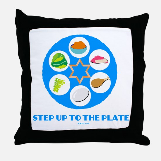Step Up To Plate Passover Throw Pillow