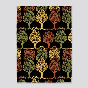 Fall Color Tree Pattern 5'x7'Area Rug
