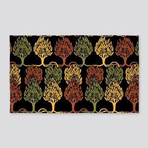 Fall Color Tree Pattern Area Rug